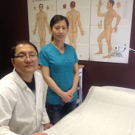Dr. Ning Li with Assistent